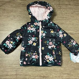 Carters Baby Girls Bubble Floral Coat